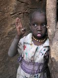 African child in slum Stock Photo