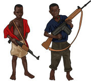 African Child Soldiers Stock Images
