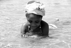 African Child Swimming royalty free stock images