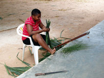 African child working Stock Photos