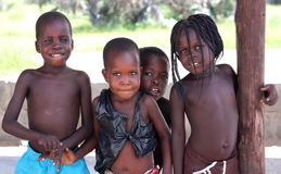 African children. Children in a village of Botswana, Southern Africa stock photography