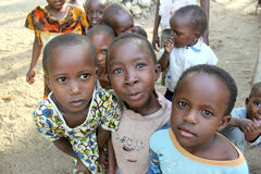 African children. A group of African children in Kenya royalty free stock image
