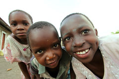 African children. A group of African children in Kenya royalty free stock photo