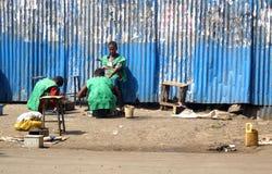 African children. Children in working in a street of Addis Abeba, Ethiopia Royalty Free Stock Photo