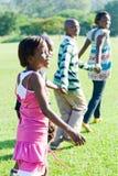 African Children. Running in the park Stock Photos