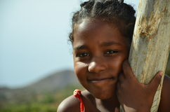 African Children. Cape verdean creole kid in africa Royalty Free Stock Photo