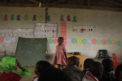 African children in class in a preschool rural Swaziland, southern Africa Stock Photos