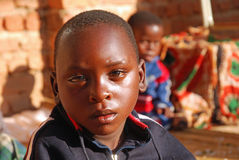 African children of the Franciscan Mission of the Village of Pom Royalty Free Stock Image