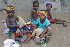 AFRICAN CHILDREN GAMES Royalty Free Stock Photography