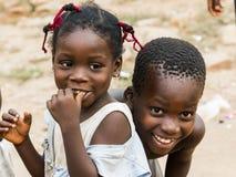African children in ghana. Accra, Ghana - December 28, 2016: happy African children in Accra, Ghana Royalty Free Stock Photo