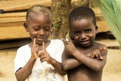 African children in ghana. Accra, Ghana - December 30, 2016: happy African children in Accra, Ghana Royalty Free Stock Photography