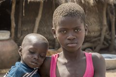 African children in ghana royalty free stock image