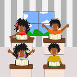 African children go to school Stock Image