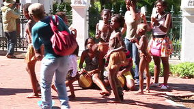 African children stock footage