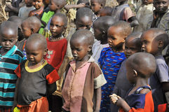 African children from Masai tribe Royalty Free Stock Photography