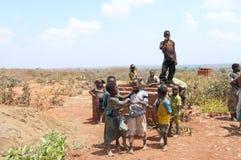 African Children Playing At Gusu Village. Stock Photos