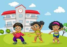 African children at school yard vector illustration