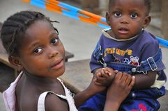 Free African Children Sister With Brother Stock Images - 22396674