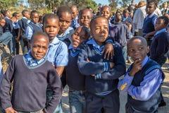 African children. South African children in school uniform royalty free stock image