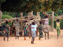 African children at work Stock Photo