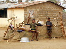 African children working Royalty Free Stock Photos