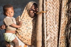 African children in Zanzibar Island. Even facing severe life conditions, children in rural Africa are joyful and optimistic Royalty Free Stock Photography