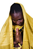 African Christian woman royalty free stock photography