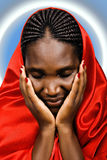African Christian woman stock photography