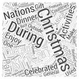 African Christmas word cloud concept  background Royalty Free Stock Image