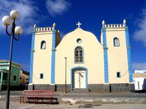 African Church. In Boavista, CaboVerde, Africa Royalty Free Stock Photos
