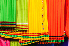 African Cloth Fabric Colors Royalty Free Stock Photography