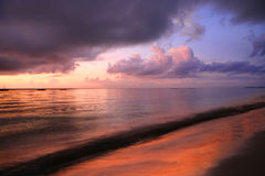 African Coast Line. A morning sky over the indean ocean of the coast of kenya royalty free stock image