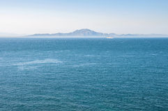 African coast seen from Gibraltar Royalty Free Stock Image