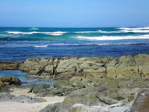 African coastline. A beautiful image of African rocky coastline landscape in the Nelson Mandela Metropole of Port Elizabeth, Eastern Cape, South Africa Royalty Free Stock Photography