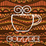 African Coffee Poster Stock Photography