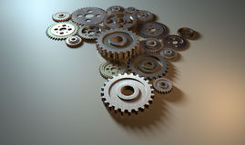 African Cogwheel Machine Stock Photography