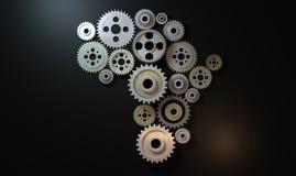 African Cogwheel Machine Royalty Free Stock Images