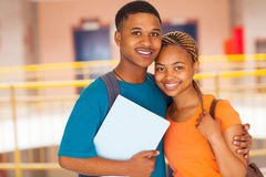 African college couple Royalty Free Stock Photos