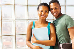 African college couple Royalty Free Stock Images