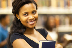 African college girl. Pretty african american college girl closeup portrait Stock Photo