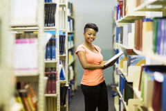 African college girl library Royalty Free Stock Images