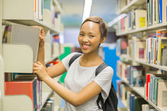 African college girl library Stock Photos