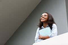 African college girl looking up Stock Photography