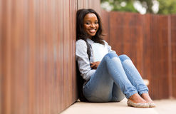 African college girl Royalty Free Stock Photography