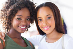 African college girls. Beautiful young african college girls closeup portrait Stock Photos