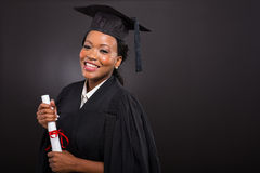 African college graduate Royalty Free Stock Photography