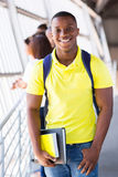 African college student. Happy african american college student on campus Royalty Free Stock Photography