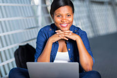 African college student laptop Stock Photo