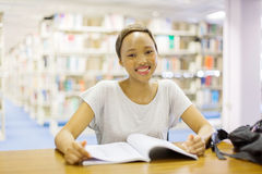 African college student library Royalty Free Stock Image