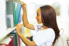 African college student library Royalty Free Stock Photo